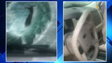 Driver hospitalized after chunk of concrete crashes through windshield&hellip&#x3b;