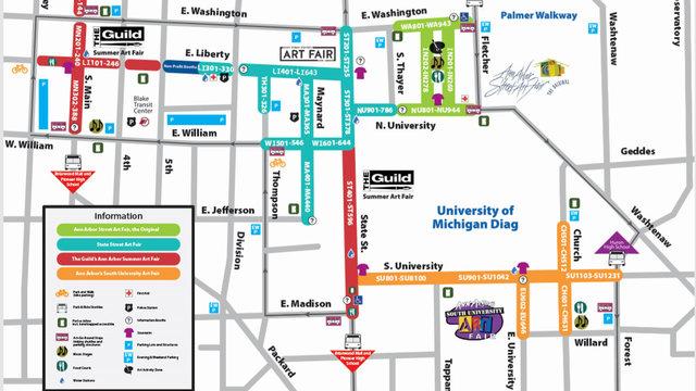 Road closures during Ann Arbor Art Fair