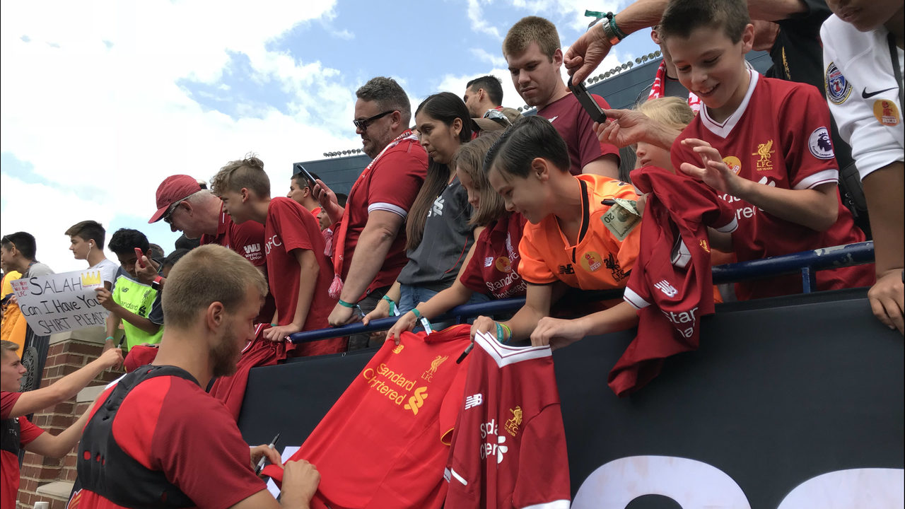 Liverpool Fc Holds Practice In Ann Arbor Ahead Of Saturdays