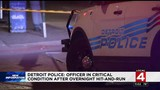 Detroit officer in critical condition