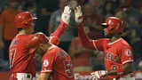 Upton, Pujols, Calhoun homer in Halos' 6-0 win over Tigers