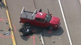 Motorcyclist hurt in crash with pickup truck in Chesterfield Township