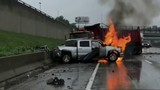Abandoned truck careens across I-75 at I-94, destroying median, crashing&hellip&#x3b;