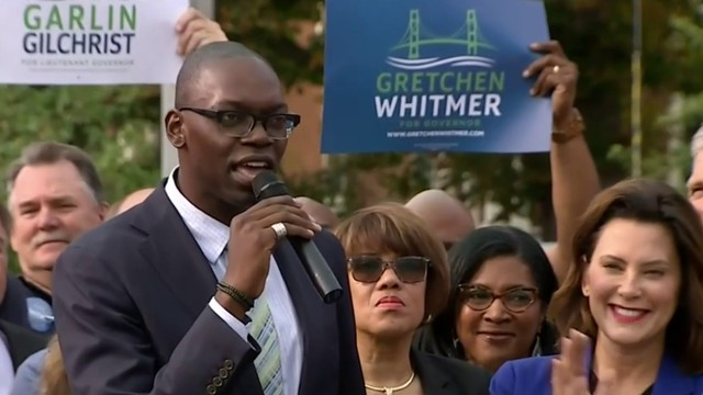 Whitmer's running mate is University of Michigan official Garlin Gilchrist