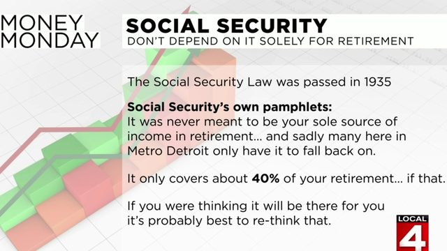 Money Monday: Don't depend on Social Security alone for retirement