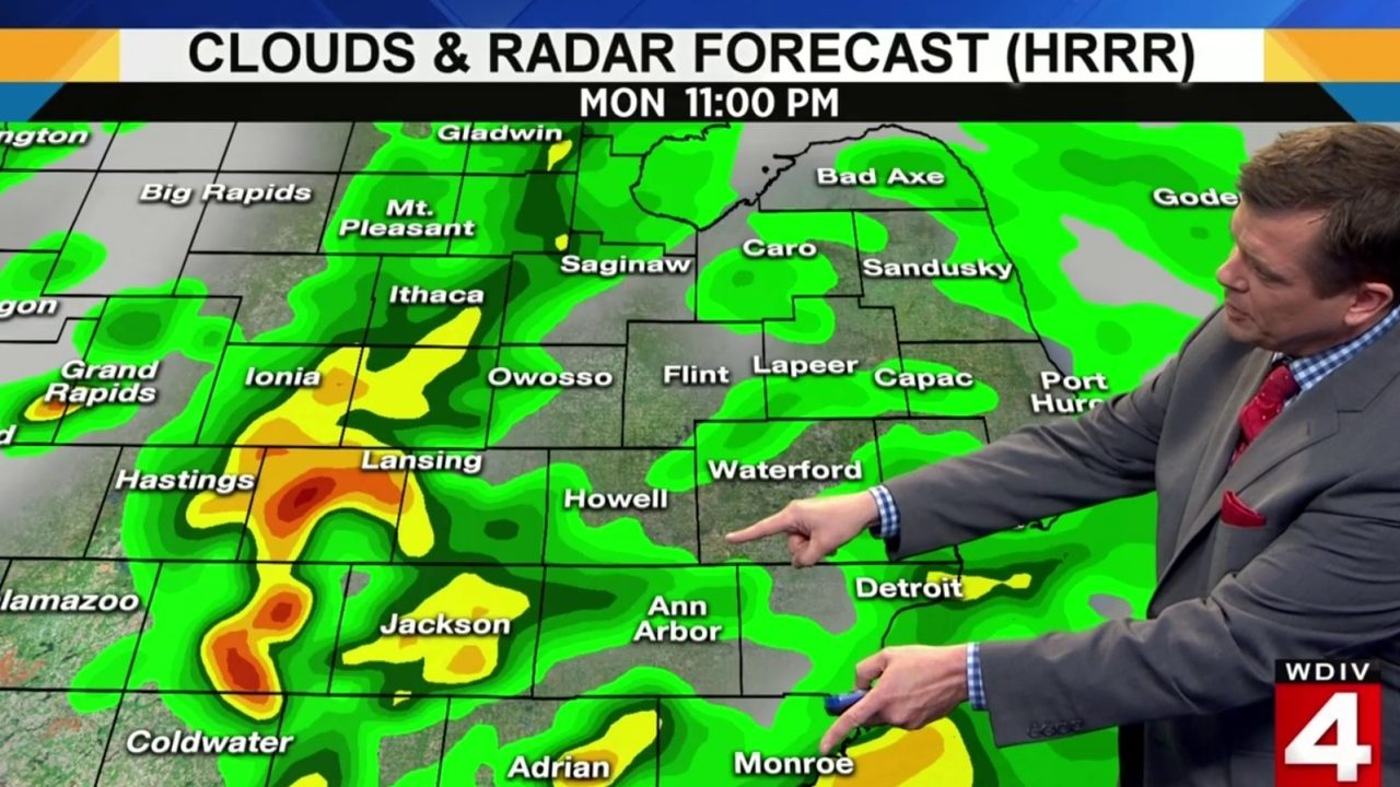 Metro Detroit Weather Forecast Rain Will Move In Monday Night