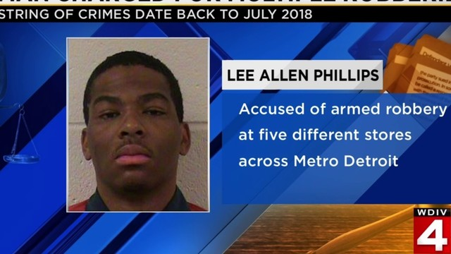 Man charged for multiple robberies across Metro Detroit