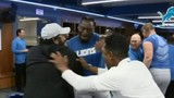 Lions celebrate Sunday night win over Patriots