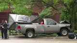 3 people injured when out-of-control pickup truck crashes into Detroit bus stop