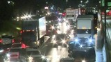 Flooding causes backups on Southfield Freeway at Oakwood Boulevard in Dearborn