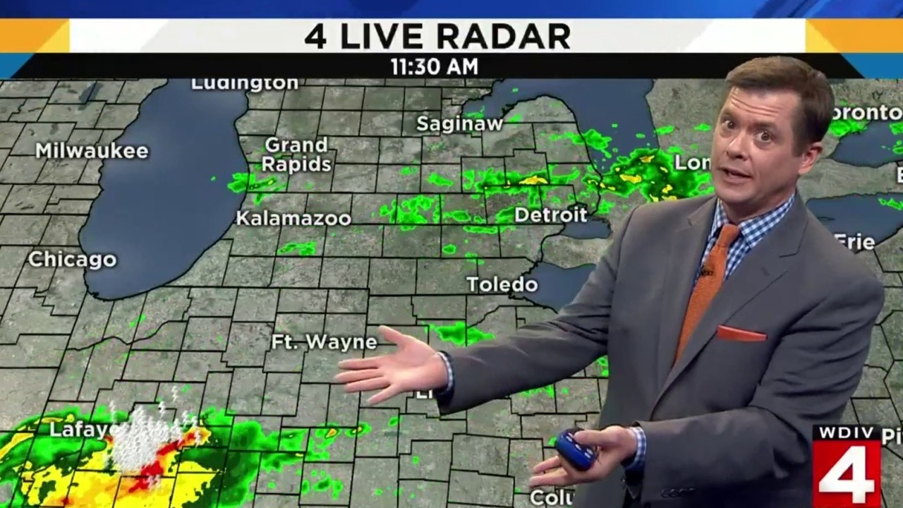 Tuesday Weather Map.Metro Detroit Weather Forecast Slight Risk For Severe Weather