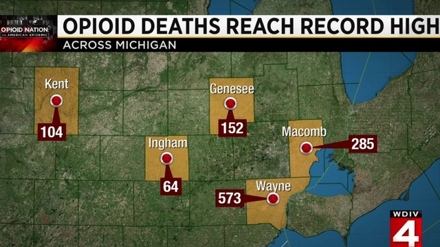 State of Michigan says opioid-related deaths continuing to rise