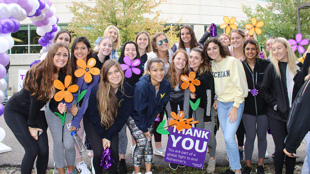 Walk to End Alzheimer's at Ann Arbor's Pioneer High School Sunday