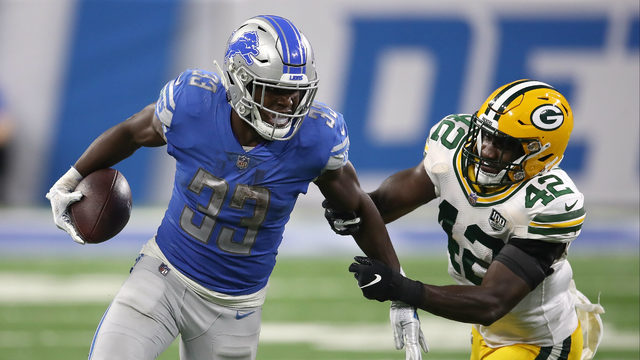 Detroit Lions place RB Kerryon Johnson on injured reserve with knee injury