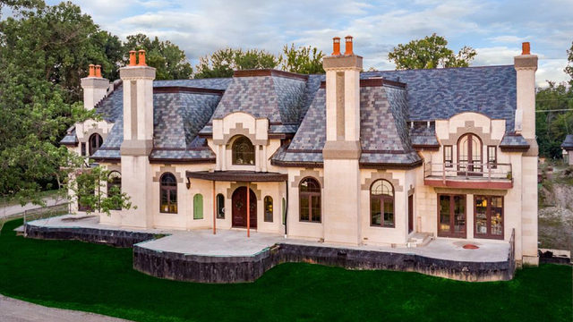 'Majestic' Grosse Ile mansion lists for $29M -- and it's not even finished yet
