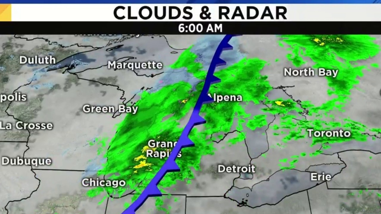Metro Detroit Weather Forecast Morning Showers Breezy Monday
