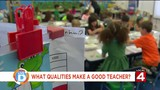 Tati asks around the D, 'What qualities makes a good teacher?'