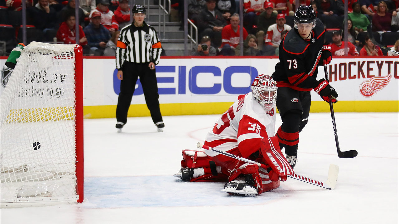 b1c64f236 Red Wings woefully outplayed in 3-1 loss to Carolina