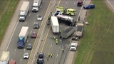 State police: Truck driver killed in crash on westbound I-96 near Kent Lake Road