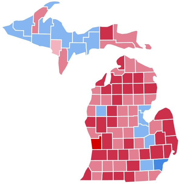 Here S How Michigan Voted For President George H W Bush In 1988