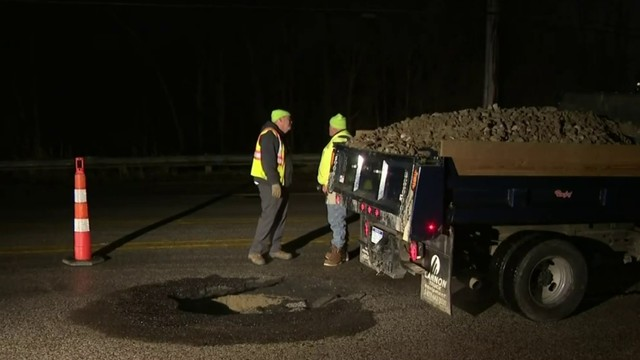 15 Mile Road reopens in Clinton Township after sinkhole fixed