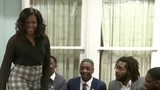 Michelle Obama surprises Wayne State students in visit to Motown Museum