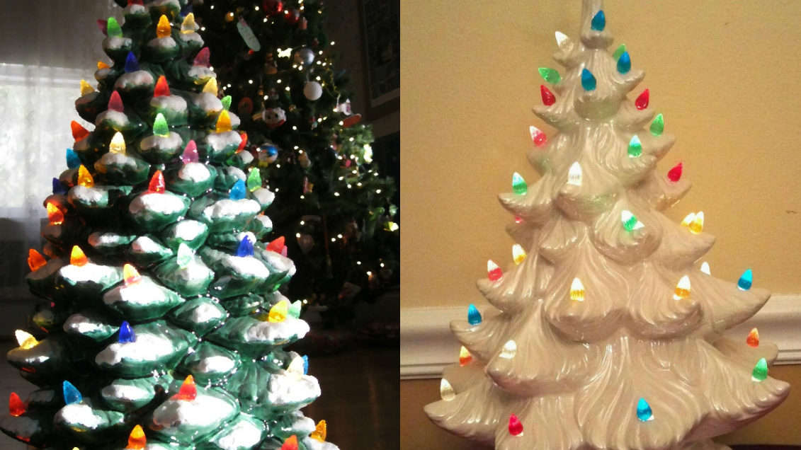 Ceramic Christmas Tree With Lights.Those Ceramic Christmas Trees On Your Shelf Could Be Worth A