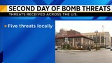 Second day of bomb threats
