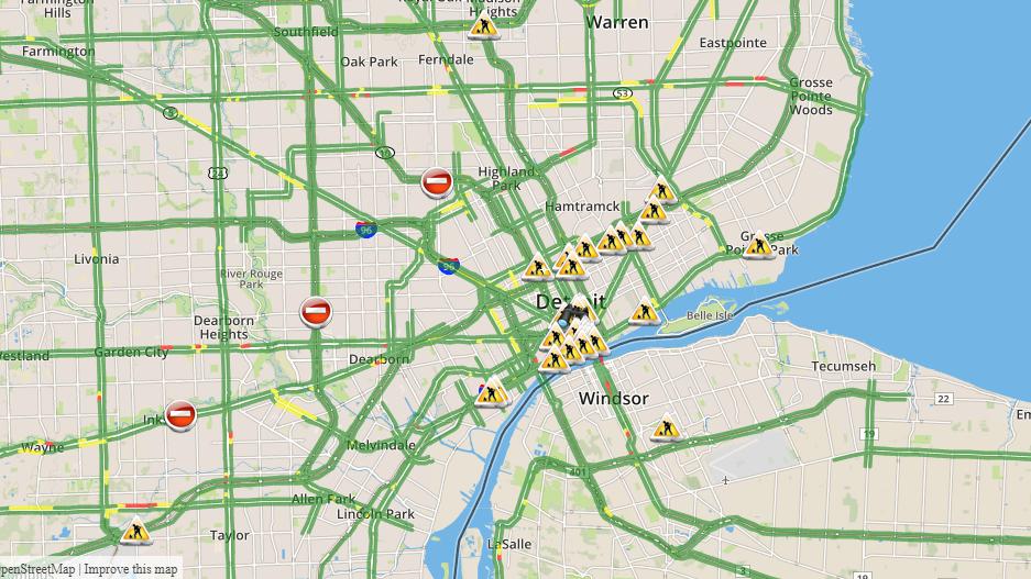 Metro Detroit Traffic Map.Flipboard Check Metro Detroit Traffic Map Updates Here