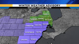 Winter weather advisory issued for Metro Detroit as snowstorm moves in Saturday