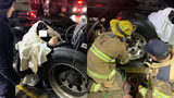 Livonia, Plymouth firefighters extract man trapped between 2 semi truck tires
