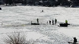2 men in SUV drive onto Oakland County lake, fall through ice