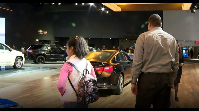 Students use snow day to visit Detroit Auto Show at Cobo