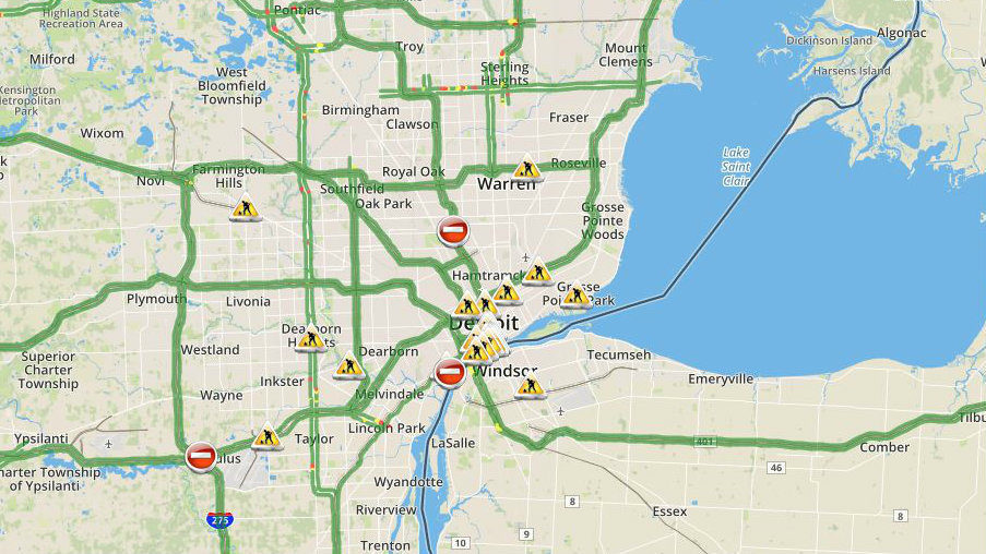 Detroit Traffic Map Check Metro Detroit traffic conditions and live map right here Detroit Traffic Map
