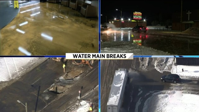 Several water main breaks reported in Metro Detroit