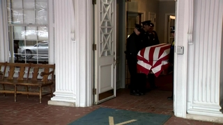 WATCH: John Dingell's casket moved before visitation in Dearborn