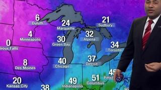 Metro Detroit weather: Scattered rain Thursday evening for Valentines dinner