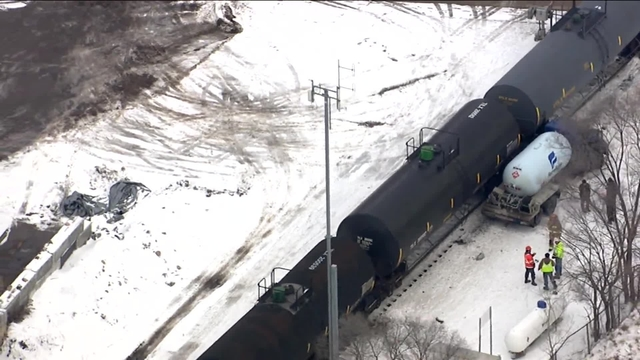 Train strikes propane truck on Hubbard Street in Mount Clemens