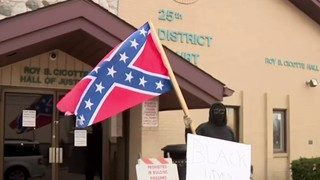 Belleville man protests assault charges with Confederate flag, alleges&hellip&#x3b;
