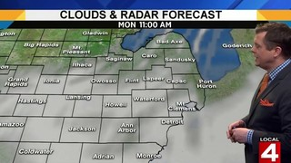 Metro Detroit weather: Snowy conditions Monday morning&#x3b; more sun later