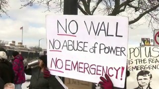Ferndale protesters criticize president's national emergency declaration&hellip&#x3b;