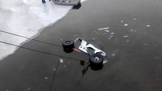 ATV falls through ice on Lake Orion
