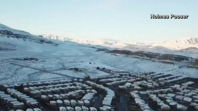 Drone video: Snow covers Las Vegas
