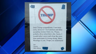 Ohio music store's anti-Trump supporter policy sparks backlash