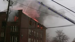Man taken into custody after apartment fire on Detroit's west side