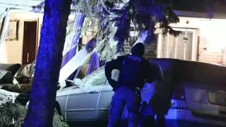 Woman unhurt after suspected drunken driver crashes SUV into her Detroit home