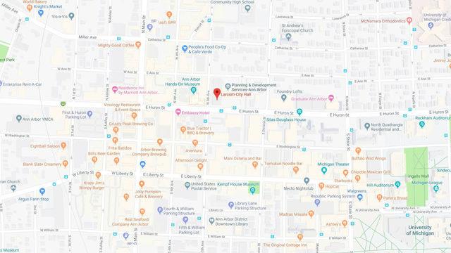 Where is Ann Arbor City Hall?