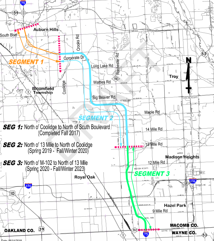Updated I 75 Construction In Oakland County Schedule Released