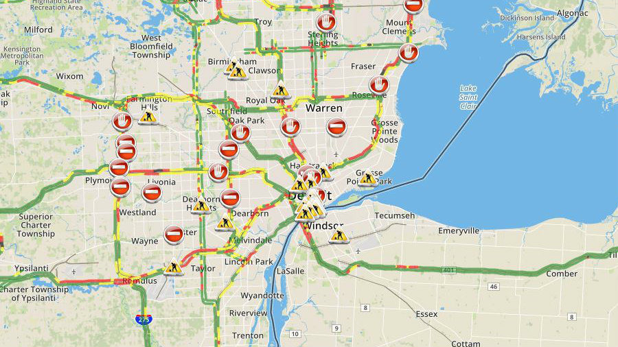 Check Metro Detroit Traffic Conditions And Live Map Right Here