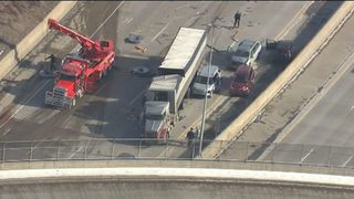 Westbound I-696 reopens at Dequindre Road after crash that injured 3